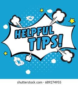 Helpful tips pop art