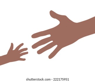 helping hand clip art images stock photos vectors shutterstock rh shutterstock com helping hands black and white clipart Christian Helping Hands Clip Art