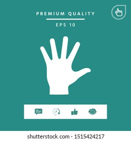 Helping hand silhouette- icon. Graphic elements for your design