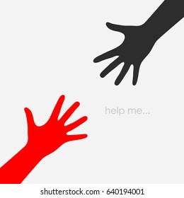 Helping hand vector eps icon on white background