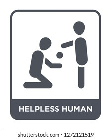 helpless human icon vector on white background, helpless human trendy filled icons from Feelings collection, helpless human simple element illustration