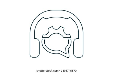 Helpline icon. Flat style vector graphical symbol.