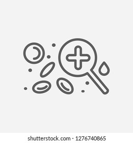 Hematology icon line symbol. Isolated vector illustration of  icon sign concept for your web site mobile app logo UI design.