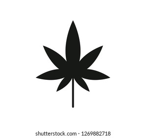 hemp icon on white background