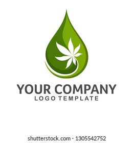 Hemp Leaf green Logo