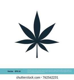 Hemp / Marijuana Leaf Icon Vector Logo Template Illustration Design. Vector EPS 10.