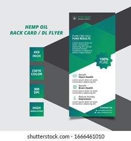 Hemp Oil Rack Card / Dl Flyer Template