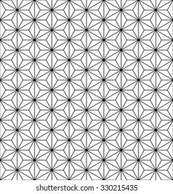 Hemp seed pattern vector, Asanoha Japanese motif, sacred geometry
