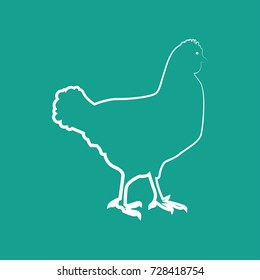 a hen icon vector