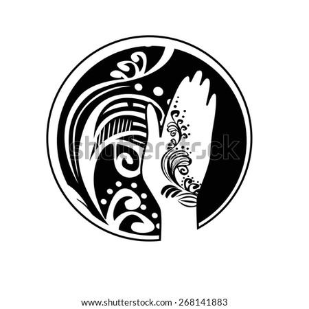 Henna Art Icon Stock Vector Royalty Free 268141883 Shutterstock