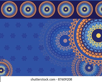 Henna art inspired- colourful Background - elaborate and easily editable