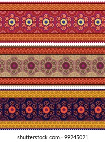Henna Banner/ Border, Henna inspired Colourful Border - very elaborate and easily editable