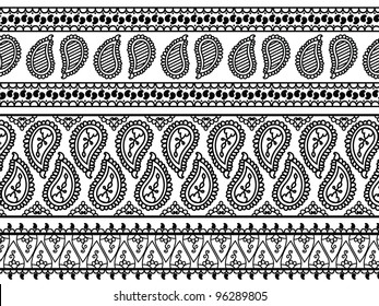 Henna Banners/ Borders, very elaborate and easily editable