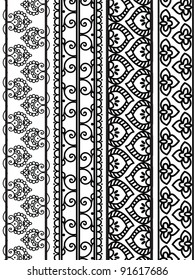 Henna Borders, Henna inspired Boders - very elaborate and easily editable