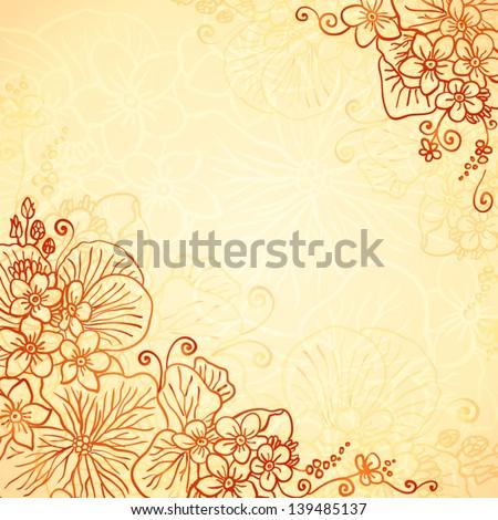 Henna Colors Flourish Artistic Background Stock Vector Royalty Free