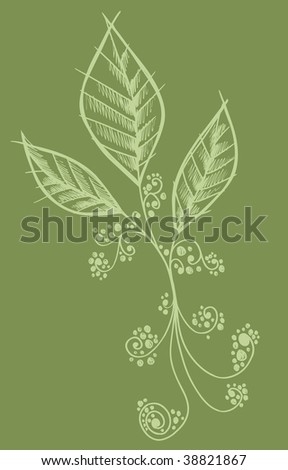 Henna Doodle Flower Leaves Design Vector Stock Vector Royalty Free