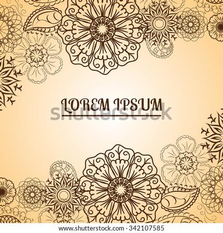 Henna Flowers Mehndi Design Vector Element Stock Vector Royalty