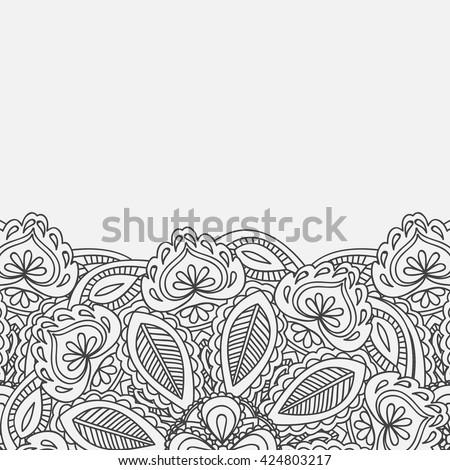 Henna Mehndi Card Template Mehndi Invitation Stock Vector Royalty