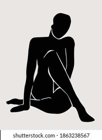 Henri Matisse inspired line art vector fin art modern figurative print
