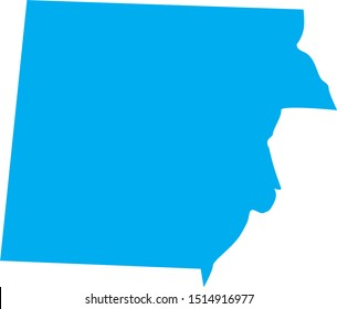 henry County map in Tennessee state