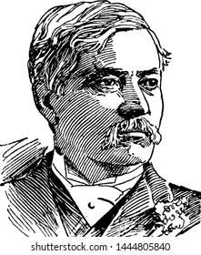 Henry M. Stanley, vintage illustration