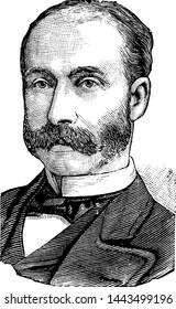 Henry Petty-FitzMaurice, vintage engraved illustration