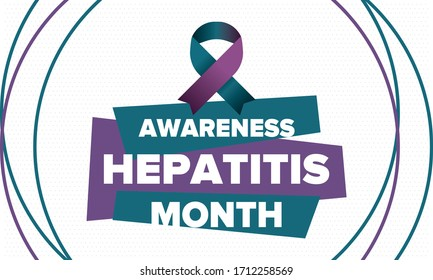 Hepatitis Awareness Month in May. Annual campaign in United States. Viral infection, liver problem. Hepatitis testing day. Control and protection. Prevention campaign. Medical healthcare vector design