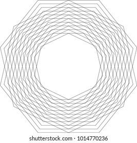 Heptagon Geometric Pattern