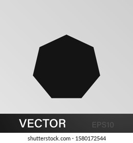 heptagon icon. Elements of Geometric figure icon for concept and web apps. Illustration icon for website design and development, app development