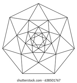 Heptagons and triangles