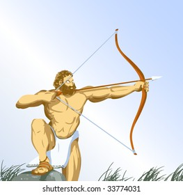 Heracles with bow