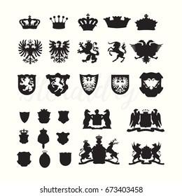 Heradlry Coat of Arms Nobel Elements Set