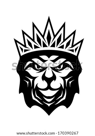 Heraldic Crowned Lion Symbol Royalty King Stock Vector Royalty Free