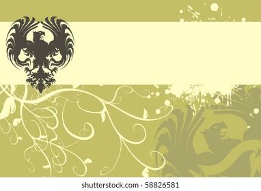 heraldic eagle background in vector format