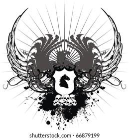 heraldic eagle coat of arms tshirt in vector format