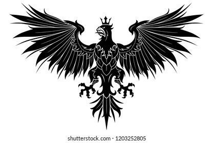Heraldic eagle with crown