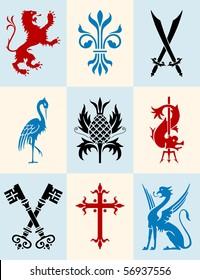 Heraldic icon set
