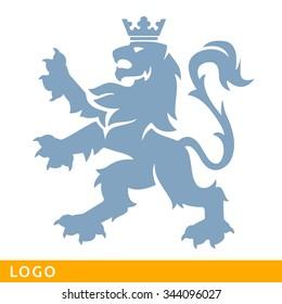 Heraldic Lion. Logo template. Design of element logo. Modern vector concept.