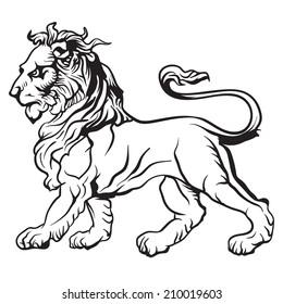 Heraldic lion. Vector.