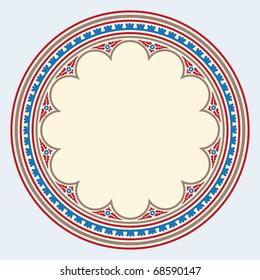 Heraldic ornamental frame medieval style