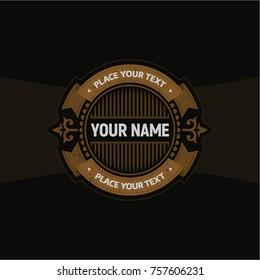Heraldic Radial Label / Flat Vector Sticker