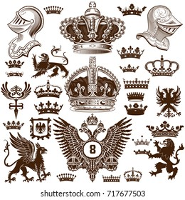 Heraldry elements set