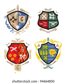 Heraldry - The pirate and naval arms 2, vector