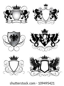 Heraldry set shield