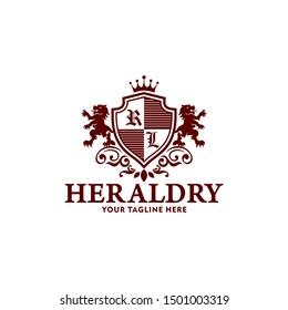 Heraldry Vector Logo Lion Royal Logo Stock Vector