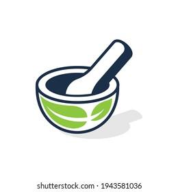 Herbal Medical Logo Design Element