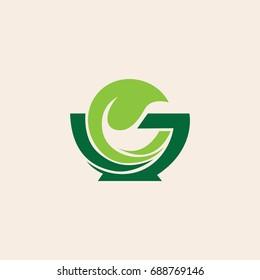 herbal medical symbol logo
