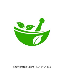 Herbal medicine icon. Alternative Medicine logo for naturopathic medicine, homeopathy.
