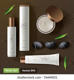Herbal SPA. Vector set
