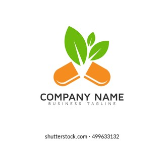 Herbal Supplement - Natural Medicine Logo Template